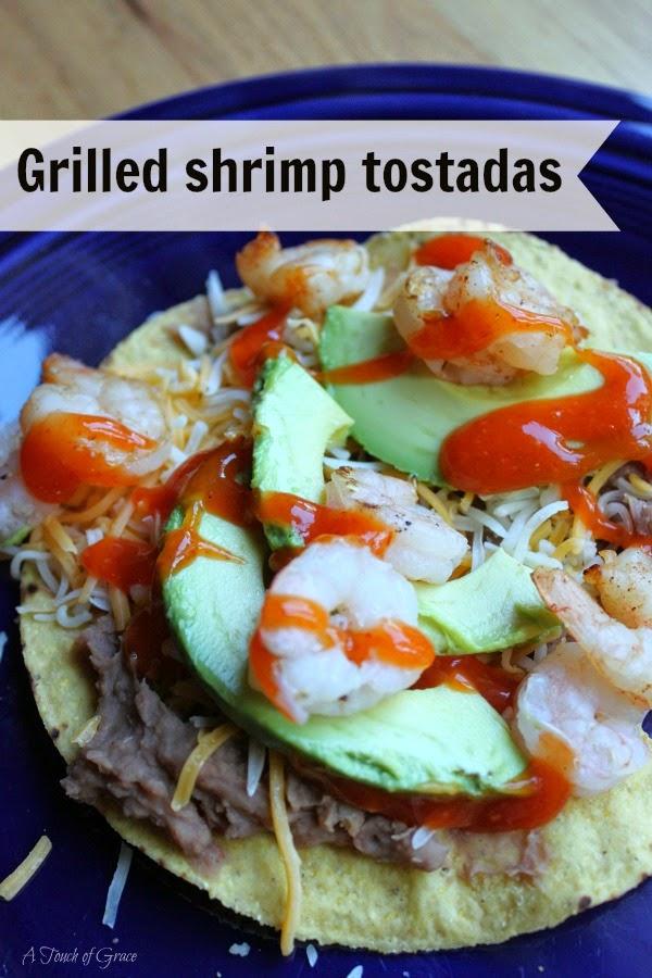 Grilled shrimp tostadas - A Touch of Grace